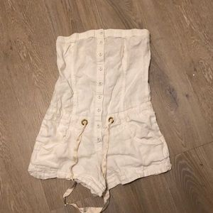 Guess white jumpsuit